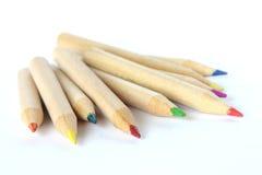 kulöra crayonsblyertspennor Royaltyfria Bilder