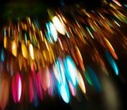kulöra defocused lampor för bakgrund Arkivfoto