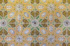 Kulöra dekorativa tegelplattor Vibrerande retro tappningbakgrund royaltyfri bild