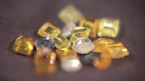 Kulöra diamanter 005 lager videofilmer