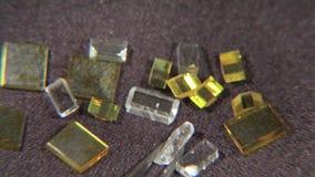 Kulöra diamanter 003 lager videofilmer
