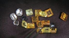 Kulöra diamanter 004 stock video