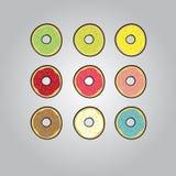 Kulöra donuts Royaltyfria Bilder