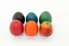 kulöra easter ägg Arkivbild