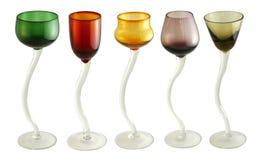 kulöra exponeringsglas för coctail Fotografering för Bildbyråer