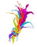 Kulöra färgstänk Royaltyfri Fotografi