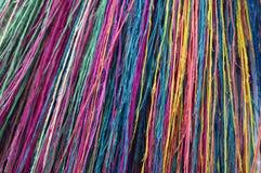 Kulöra fibrer för bakgrund Arkivbild