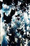 Kulöra fläckar på glass abstrakt begreppbakgrunder Royaltyfria Bilder