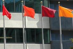 kulöra flaggor Arkivbilder
