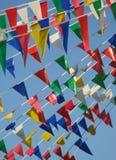kulöra flaggor Fotografering för Bildbyråer