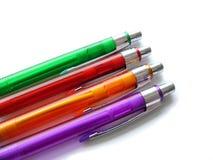 kulöra fyra pennor Royaltyfria Bilder