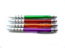 kulöra fyra pennor Arkivbilder
