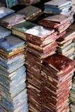 Kulöra handcrafted tegelplattor i Fez, Marocko arkivfoton