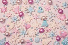 Kulöra kakor för pastell royaltyfria bilder