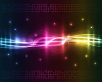 kulöra lampor för abstrakt bakgrund Fotografering för Bildbyråer