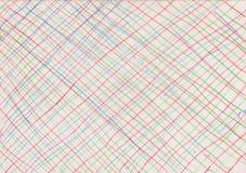 Kulöra linjer på pappers- bakgrund Arkivbilder