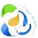 Kulöra målarfärgfärgstänk Arkivbilder