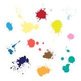 Kulöra målarfärgfärgstänk Royaltyfria Bilder
