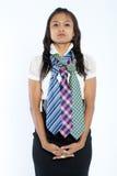 kulöra mång- slipsar tre för affärskvinna Royaltyfri Bild