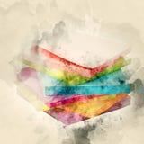 Kulöra Paper etiketter Arkivbild