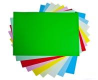 kulöra papperen Arkivfoto