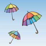 kulöra paraplyer Royaltyfria Bilder