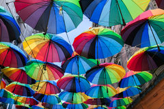 kulöra paraplyer Royaltyfri Foto
