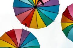 Kulöra paraplyer för stolthet Arkivbilder