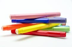 Kulöra pennor Royaltyfri Fotografi