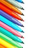 kulöra pennor Arkivbild