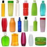 Kulöra plast-flaskor Royaltyfri Foto