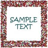 kulöra prickar inramniner text för prövkopiaavstånd Royaltyfri Bild