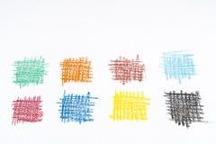 Kulöra rektanglar på ett ark av papper Arkivfoto