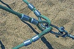 Kulöra rep fästte tillsammans 4 Royaltyfri Foto