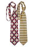 Kulöra slipsar för man` s för dagen för fader` s Fotografering för Bildbyråer
