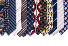 Kulöra slipsar för man` s för dagen för fader` s Arkivfoto