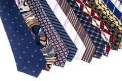 Kulöra slipsar för man` s för dagen för fader` s Royaltyfri Fotografi