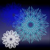 Kulöra snowflakes Stock Illustrationer