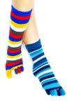 kulöra sockor Royaltyfria Bilder