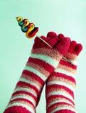 kulöra sockor Royaltyfri Fotografi