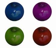 Kulöra spheres royaltyfri illustrationer