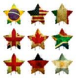 kulöra stjärnor royaltyfri illustrationer