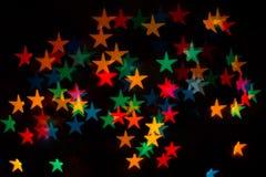 kulöra stjärnor Royaltyfri Fotografi