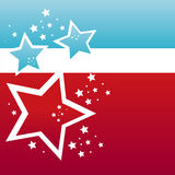 kulöra stjärnor för amerikansk bakgrund royaltyfri illustrationer