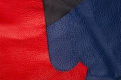 kulöra stycken och rester av naturligt läder royaltyfri fotografi