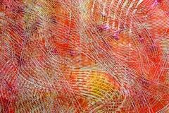 kulöra swirls för multiipapperspaste Arkivfoto