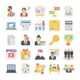 Kulöra symboler 5 för affärslägenhet stock illustrationer