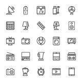 Kulöra vektorsymboler 2 för elektronik stock illustrationer