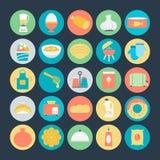 Kulöra vektorsymboler 6 för mat stock illustrationer