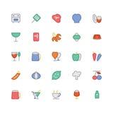 Kulöra vektorsymboler 7 för mat royaltyfri illustrationer